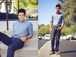 Yoshi Sudarso - Levi's® Levi's Stock Workshirt, Levi's® Levi's 505 Straight Fit Commuter Jeans, Adam G. Adam's Watch - That All-American Box