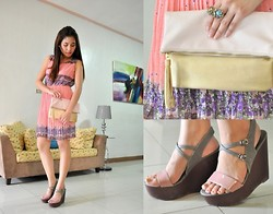 Kissa A. - Stylista,Inc Pleated Dress, Primadonna Heels, H&M Two Toned Clutch - Paint The Town Pink