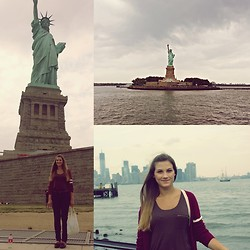Manuela I. - Forever 21 Cardigan, H&M Shirt With Zip, H&M Jeans - Where liberty is, there is my country - Benjamin Franklin