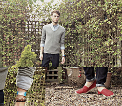 Dapper Gent Blog - Asos V Neck Jumper, Asos Oxford Shirt, Topman Skinny Jeans, River Island Espadrilles - Wilderness