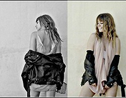 Ro Alvarez - Leather Jacket, H&M Princess Dress - I'm in a love affair without a love song