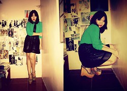 Irish Maureen Manuel - Sm Ladies Fashion Blouse, Oxygen Skirt, Jeffrey Campbell Wedges - As Equals
