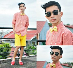 Russel Manalastas - Burberry Thomas, Ray Ban, Polyester Bow Tie, Topsider - I don't need to apologize for who I am.