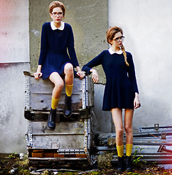 Ebba Zingmark - Wandering Minds Dress, Wandering Minds Socks, Dr. Martens Dr - Our Wandering Minds