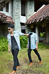 Riefky Delfiandre - Dior Homme, Zara Man, Basic Ouky Vintage, Cheap Monday Blackdenim, Ckr Boots Shoes Bandung - I Was Pullen and Pulling Myself