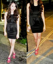 Carla Garcia - Apartment 8 Clothing Peplum Dress - Black Saturday Night