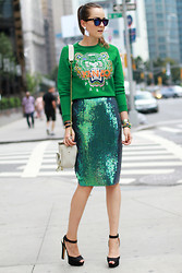 Andy T. - Kenzo Jumper, H&M Skirt, Stylescrapbook For Kipling Bag - GREEN LANTERN