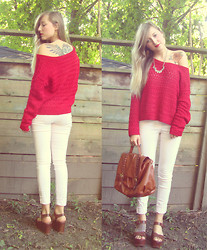 Kendra B - Winners Knit Sweater, H&M Pink Pants - Rouge!