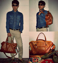 Ervin Tamondong - Sprit Sleeve, Chino Jeans, Topman Leather Bag, Drive Shoes - CONNECTED