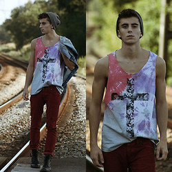 Clément Lasserre - Wasted Tie Dye Tank Top - Was✝ed