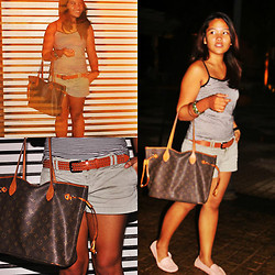 Jemille Cuison - Sm Accessories Square Holed Belt, Shoebox Light Pink, Abercrombie And Fitch A & F Ragged - Fire and Brown