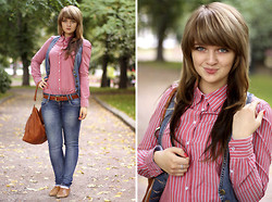 Maria Lapina - H&M Blouse, Bershka Jeans, Stradivarius Shoes - The beginning of autumn