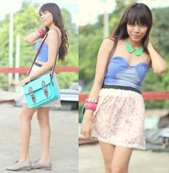 Nerza O - Denim Bustier - What's My Pastel Of Choice