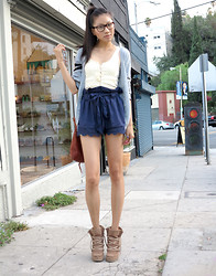 Angela Lee - Ark&Co Shorts, Forever 21 Ankle Boots - Four Eyes