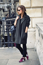 Christine R. - Topshop Coat, New Balance Sneakers - LFW Outfit 1