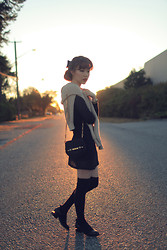 Ivy Xu - American Apparel Pullover, American Apparel Knit Dress, Alexander Wang Shoes - Back to the 60's