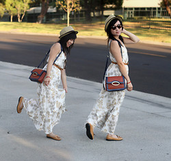 Crystal C - From Japan Bag, Old Navy Maxi Dress, Kmart Flats - Flatter Yourself w/ Flattering Flats