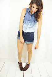 Sam W. - Thrifted/Diy Ombre Vest, Thrifted/Diy Shorts, Urban Outfitters Boots - Faded