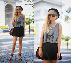 Adenorah M - Eleven Paris Top, Romwe Skirt - Adenorah @ Arc de Triomphe