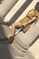 Eline Coolen - Vintage Dress, Jeffrey Campbell Heels - Never give up on someone you can't go a day without thinking