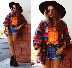 Bebe Zeva - Aram Abrams Orange Cross Tank, Unif Hellbounds - I don't wanna waste your time