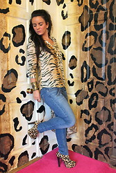 Nicola McLaughlin - Zara Shirt, River Island Jeans, Paul's Boutique London Ltd. Handbag, Topshop Boots, Stella And Dot Ring - Animal Instinct
