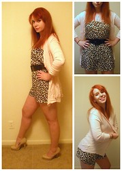 Kiki Marie - H&M Pink Sweater, H&M Leopard Romper, Guess? Nude Pumps - Hands down, I'm too proud for love