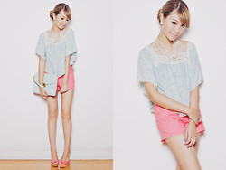 Tricia Gosingtian - Just G Top, Just G Shorts, One Spo Necklace, Accessorize Clutch, Cmg Heels - 091612