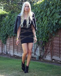 Giselle C - Armani Exchange Dress, The Kooples Boots, Asos Jacket - Tell me about it stud