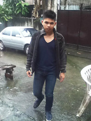 Judyson Dumapias - Ecko Jacket, Folded And Hung V Neck, People Are Shoes - Rainy Manila