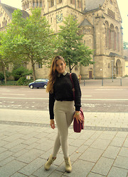 Selina Ra - New Look Jumper, Primark Blouse, Bershka Trousers, New Look Shoes, Primark Bag - A touch of autumn