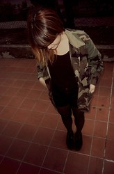 Giada Pasini - Military Secondhand, H&M, Pull & Bear, H&M, Ebay Creepers - ?SOLDIER?