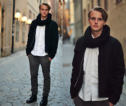 Theo Ortengren - Made In The Shade Shirt, Weekday Jacket, Zara Pants, Din Sko Shoes - Stockholm
