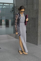 Judit Saorin - Ray Ban Shades, Beijing Silk Skulls, Topshop Long Dress, Yves Saint Laurent Ring, Zara Sandals - Summertime sadness, Kuala Lumpur