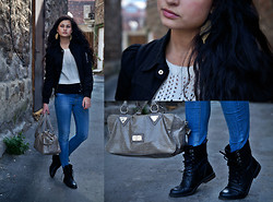 Vitaliya Nadezhdina - Abercrombie&Fitch Knitted Sweater, H&M Boots, Blumarine Bag - Falling in the fall