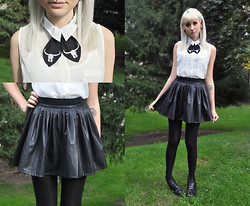 Mollie Paige - Asos Tie, Asos Leather Circle Skirt, Thrift Boots - Stars - The North