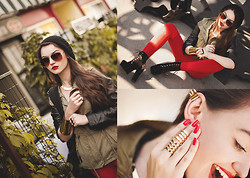 Style on Camera _ - H&M Sunglasses, Pull & Bear Jacket, Czasnabuty.Pl Wedges, H&M Treggins, New Yorker Cap, H&M Ring, Vintageshop.Pl Earcuff, H&M Necklace, Cubus Bracelet, House Ring - MilitaryLook