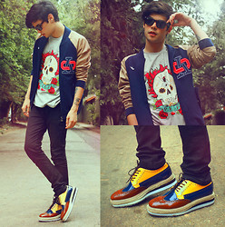 Vini Uehara - Reverbcity Red Hot Chili Peppers T Shirt, Choies Leather Retro Heavy Bottomed Male Shoes - Can't Say What I Mean