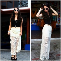 Mariel Vargas - Blvd Skirt, Blvd Bustier, Blvd Sunglasses, H&M Necklace - A trip to an old place