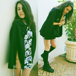 Gabriela Araujo - Forever 21 Dress, Dr. Martens Docs, Calvin Klein High Socks - First day of spring