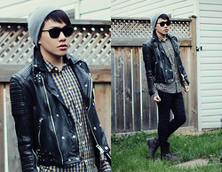 Mark Patrielle Bueno - Topman Beanie, H&M Shirt, Virgin Blak Waxed Coated Jeans, Zara Boots - SHINE BRIGHT LIKE A DIAMOND