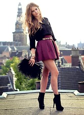 Lara Rose Roskam - Pull & Bear Blouse, Primark Skirt - Above Amsterdam