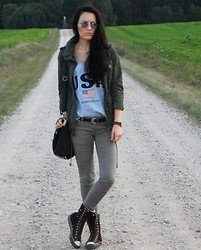 Ilona S - Converse Shoes, H&M Parka, Etorebka.Pl Bag, No Name Pants - Easy autumn look