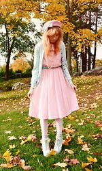 Anna Salo - Weekday Dress, American Apparel Socks, Jeffrey Campbell Shoes - Pastel in forest