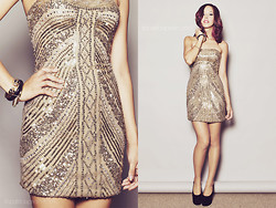 Patricia Prieto - Scala (Via Dress Empire) Beaded Cocktail, Apartment 8 Heels - Stay Golden