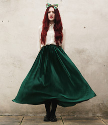 Megan McMinn - Blouse, American Apparel Skirt, Bow, Ebay Brogues - DISNEY PRINCESS.