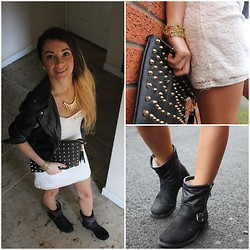 Anna Stodulska - H&M Dress, Primark Handbag, Miss Selfridge Boots - Lace and leather