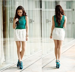 Kryz Uy - Lulu's Lace Leotard, Sm Acc Belt, Ffaq Heels - Candy Fair