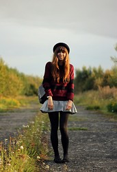 Kim S. - Bershka Striped Sweater, Topshop Hat, Mango Striped Dress, Topshop Loafers - New Beginnings