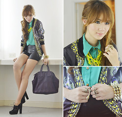 Camille Co - Pinkaholic Jacket, House Of Eva Top, House Of Eva Shorts, Butingtings Rings - Makeup Room